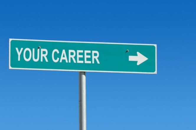 your career pointing to represent help for jobs