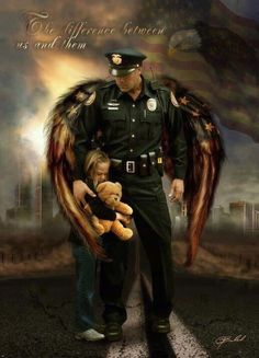 officer_child_female_bear_helpless_protecting_girl_strong_hands_brave_angel_protection
