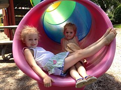 park_children_playing_slide_resting_sand_playful_enjoy
