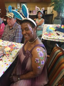Fannie Louise Hope, party, face painting, arm painting, birthday, good time