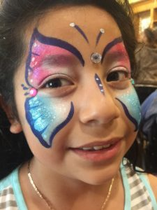 Fannie Louse Hope, party, face paint, face, child, girl, colorful face